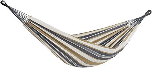 Vivere BRAZ225 Hängematte Doppel, Baumwolle, Wüstenmond, mehrfarbig