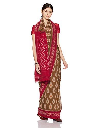IndusDiva Pochampally Ikat Pure Cotton Handloom Saree (BLR1900003_Green_One Size)