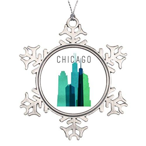 Best Friend Snowflake Ornaments CHICAGO LARGE Santa Snowflake Ornaments Large
