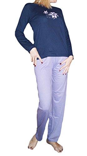 VIVA living -  Pigiama due pezzi  - Maniche lunghe - Donna Blu marino