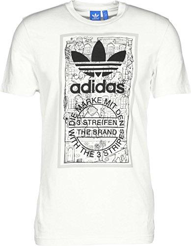 adidas Brick Tongue T-Shirt M white
