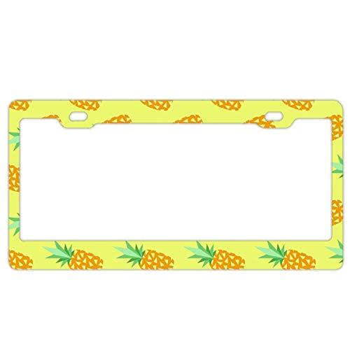 YEX Kfz-Kennzeichenhalter mit Ananas-Design, wasserdicht, 30,5 x 15,2 cm