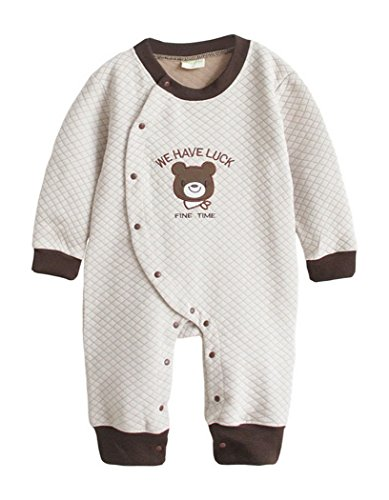Baby Boy, per bambini, taglia unica, per neonati, bambini, tutina Tuta Costume tuta Footie Beige beige 3-9M (Tag 70)