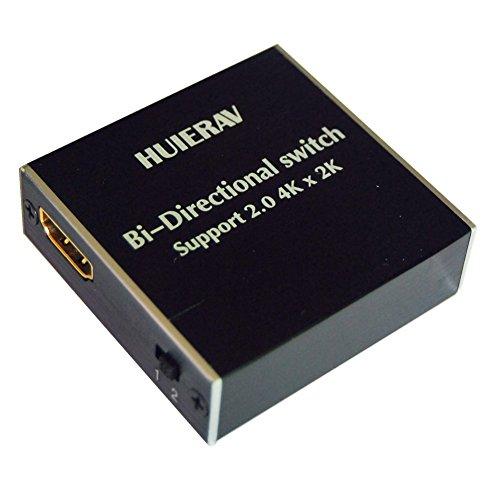 huierav HDMI 2.0Ultra HD 4Kx2K/60Hz HDMI switch| HDMI Manuelle Umschalter 2x 1oder 1x 2ab Switch Splitter, 2Anschlüsse