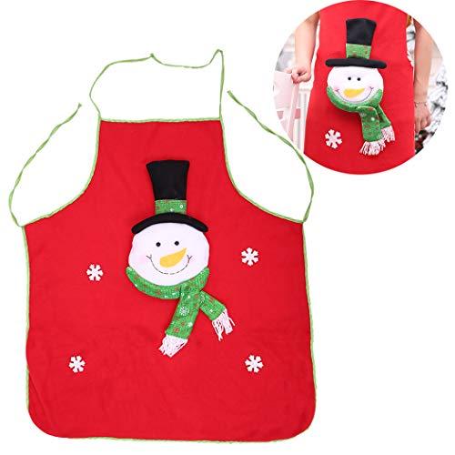 Justdolife Grembiule Natalizio Grembiule da Cucina Carino Grembiule da Cuoco Modello Cartone Animato di Babbo Natale
