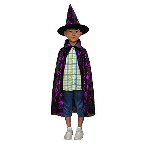 LL Halloween-Umhang Halloween Umhang Kind Hexe Hut Farbe -