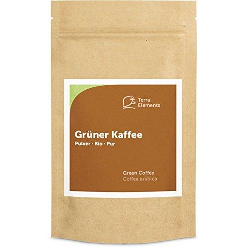 Terra Elements Bio Grüner Kaffee Pulver 200 g I 100% Arabica I Gefriergetrocknet I 100% rein I...