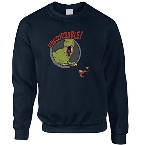 Unstoppable T-Rex mit Grabbers, Lustig Printed Design Dinosaurier Unisex-Pullover