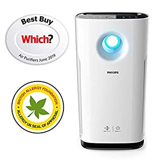 Philips AC3259/60 Series 3000i Connected Air Purifier with Real Time Air Quality Feedback, Anti-Allergen, Reduces Odours and Gases, HEPA and Active Carbon Filters, 60 W (B076QCK1FH) | Amazon price tracker / tracking, Amazon price history charts, Amazon price watches, Amazon price drop alerts
