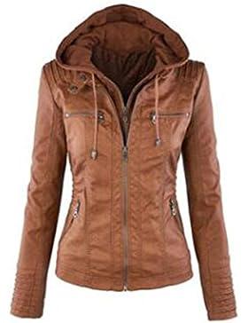 Abrigo, ropa de mujer de color sólido de gran tamaño, chaqueta de manga larga, hebilla de bolsillo con capucha...