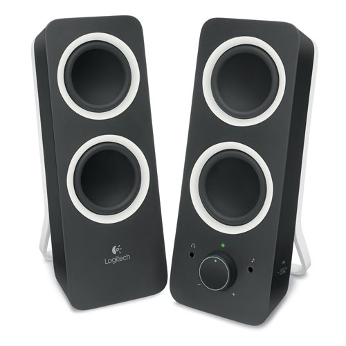 Logitech® Z200 Stereo Speakers - Midnight Black - 3.5 MM - N/A...