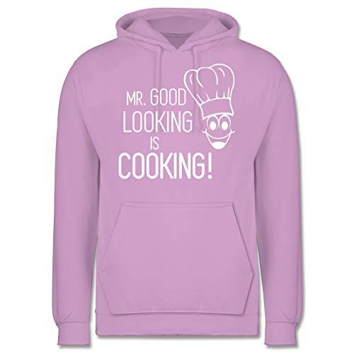 Shirtracer Küche - Mr. Good Looking is Cooking - S - Lavendel - JH001 - Herren Hoodie (Fee Männliche Outfit)