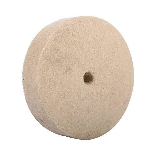 4 Stück Wolle Polieren Polierscheibe Schleifen Runde Rad Soft Filz Polierer Pad 100x25mm Beige