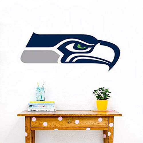 Wandaufkleber Wandtattoo Wohnzimmer Seattle Seahawks Aufkleber - Fußball Team Logo Wandbild Dekor - Seattle Seahawks Aufkleber