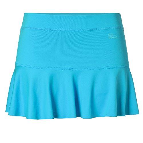 Sportkind Mädchen & Damen glockiger Tennisrock, türkis, Gr. 140 (Shorts Mikrofaser-tennis)