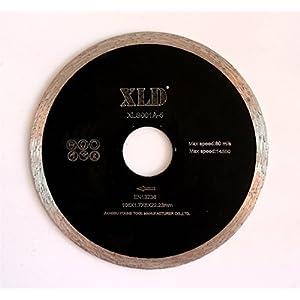 41geX6tphjL. SS300  - SAW BLADE Presionado fría XLD borde continuo de hoja de sierra, perfecta para cortar la baldosa cerámica, granito, mármol, etc., Grado A, de 4 pulgadas, By XLDTOOL ( Size : 105*1.7*5*22.23mm )