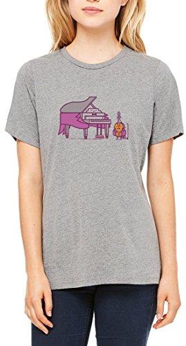 Piano Violin Concert Women's T-shirt Gris