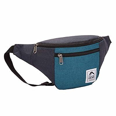 Outdoor Gear Sac banane étanche / sac de voyage de taille fourre-tout en toile jacquard - Bleu marine et gris