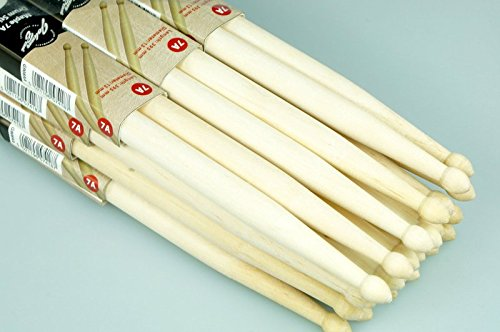 drumsticks 12 Paar Drumsticks 7A ca13mm ca35g Länge ca 395mm Drums Alive Ahorn Johnny Brook