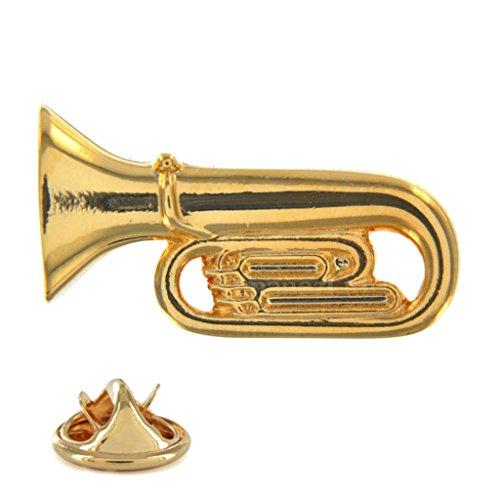 vergoldet Tuba geformte Metall-Pin Badge