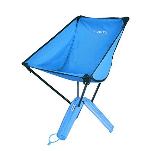 CUI XIA UK Camping chair Outdoor Foldable Storage Portable Fischen Stuhl Dreieck Stuhl Fischen Stuhl (Farbe : Blau)