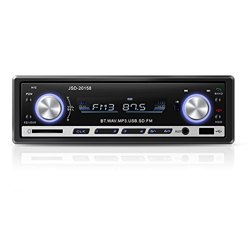 YOHOOLYO Radio Coche Bluetooth Auto Radio FM USB MP3