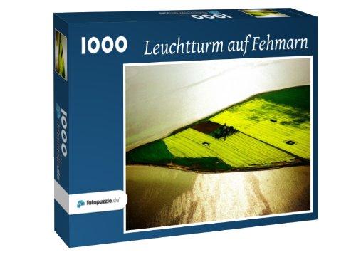 Preisvergleich Produktbild Leuchtturm auf Fehmarn - Puzzle 1000 Teile mit Bild von oben