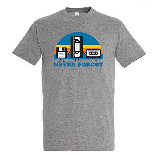 Pampling Camiseta Never Forget - Vintage - Color Gris Mezcla - Algodó