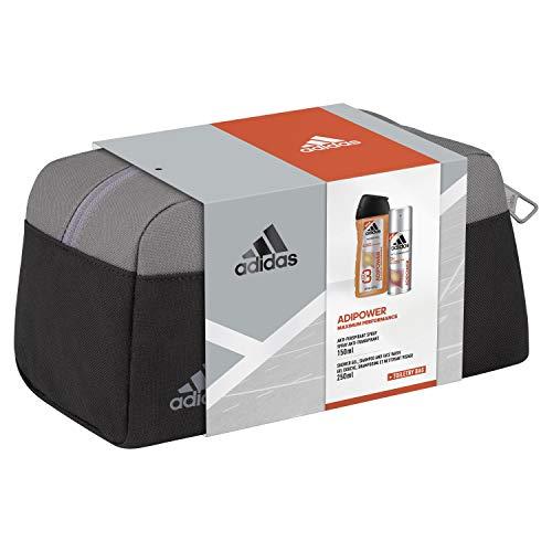 adidas Aroma Juego AIPower for Him antipe rspirant Desodorante Spray 150Ml + Show ergel 250ml + Neceser, 400ml