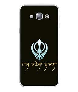 PrintVisa Raj Karega Khalsa High Gloss Designer Back Case Cover for Samsung Galaxy A8 (2015) :: Samsung Galaxy A8 Duos (2015) :: Samsung Galaxy A8 A800F A800Y