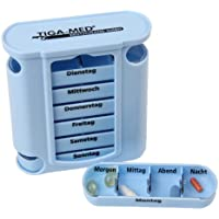 Medikamentendosierer blau Tablettenbox 4er Set (=4Stück) Pillendose Tablettendose 7 Tage / 1 Woche Original Tiga-Med... preisvergleich bei billige-tabletten.eu