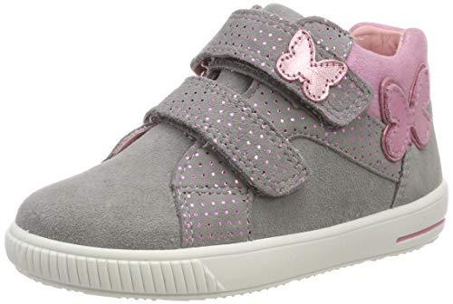 Superfit Baby Mädchen Moppy Sneaker, Grau (Hellgrau 25), 22 EU