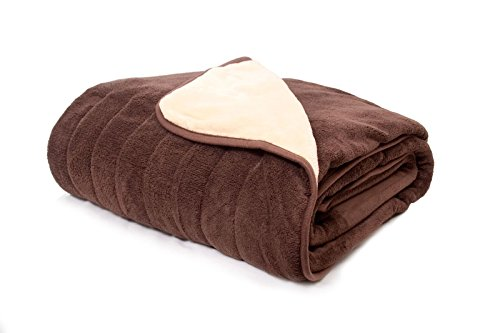Homefront-Electric-Heated-Throw-Over-Blanket-in-ChocolateCream-XL-Family-Size-Reversible-130-x-200cm-Easy-To-Use-Digital-Control-Machine-Washable-Ultra-Soft-Premium-Luxury-Finish