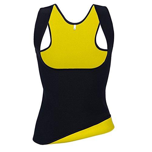Hot Thermo Schweiß Neopren Shapers Slimming Damen Corsage Korsett Bauchweg Training Taillenkorsett abnehmen Shirt Taillenformer Fitness (XXXL)