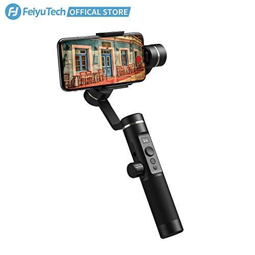 FeiyuTech SPG-2 Handheld Stabilisator 3-Achsen Gimbal für Smartphone iPhone X, Android Handy, Time-Lapse, Fokus- und Zoom-Kontrolle, Gesichts- und Objekt-Tracking -