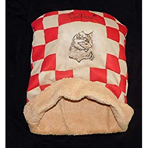 LunaChild Katzen Kuschelhöhle Schlafsack Kuschelsack Katzenbett Katzendecke Name Snuggle Bag Größe S M L oder XL vielen…
