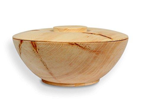 Vorratsdose aus Zirbenholz - für Brot, Getreide, Mehl, Zucker, Tee, Salz - 2-teilig: Schale & Deckel - Ø 24cm - Handmade in Austria