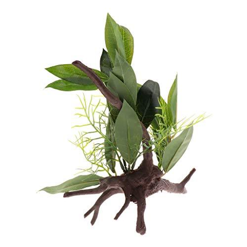 Homyl Terrarium Künstliche Pflanzen für Reptilien Schildkröten Frösche Eidechsen - Typ 1