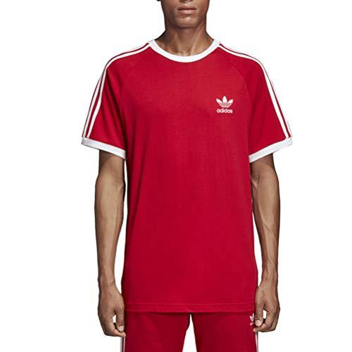 adidas Herren 3-Streifen T-Shirt Power Red XL