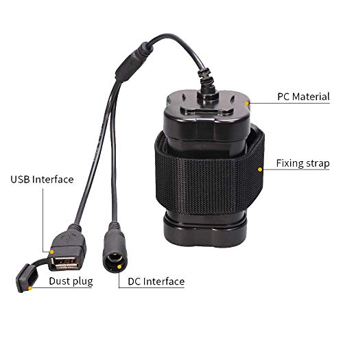 4x18650 li-ion Battery,Batterie Rechargeable,Boîtier étanche pour batterie de vélo pour lampe de vélo 8.4V 3A