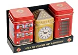 British Heritage Tea-Traditions of London, English Tea in Mini-Dosen, Geschenk-Pac ...