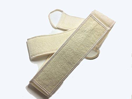 Moomua Exfoliating Back Scrubber mit Bar Seifentasche für Duschbad für Männer und Frauen (Luffa)