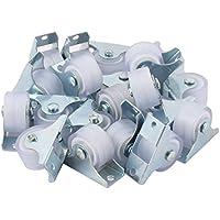 sourcingmap® 20stk Industrie Metall Rechteck Platte leichte feste Caster Rad Silberton