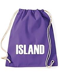 Camiseta stown Turn Bolsa Island País Países Fútbol, color morado, ...