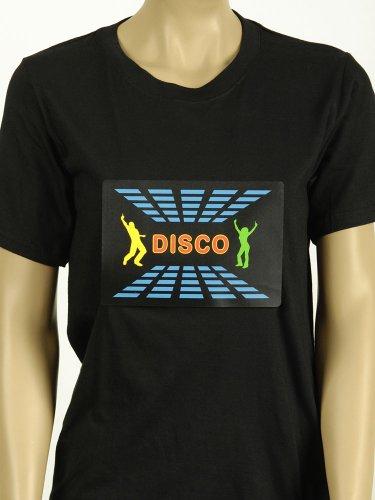 Kostüm für Erwachsene T-Shirt mit Elektro-Bild