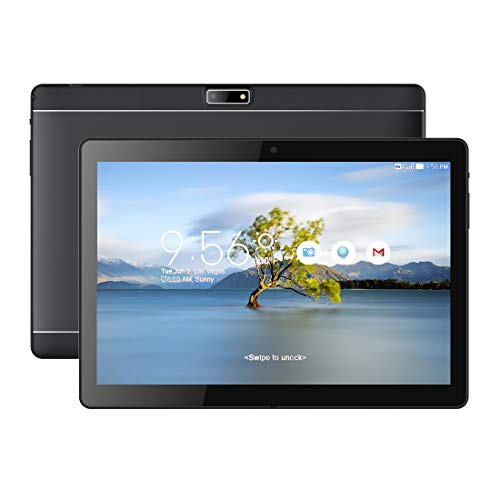 1920*1200 Full HD IPS Touchscreen, BENEVE Tablet PC 25,6 cm (10,1 Zoll), Android7.0, Dual Kamera 2MP und 5MP, 2GB RAM 16GB Speicher Quad Core CPU, Wifi/ WLAN/ Bluetooth/ GPS (Schwarz)