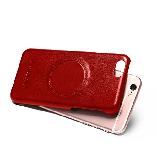 Ultra Dünn Echtem Leder Hülle für iPhone 6S/6,CareyNoce Luxus Handgefertigt Schutzhülle für Apple iPhone 6S iPhone 6(4.7 Zoll) with Ring Holder -- Braun M02