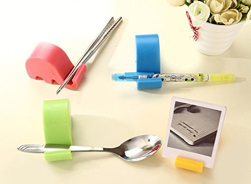 Cute Elephant Phone Stand Mobile Holder Bedside MP3 Chopstick Multi Colour by Landsell Chopstick Stand