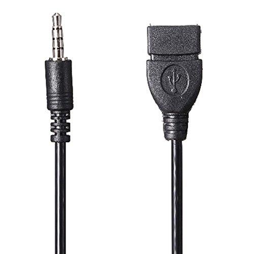 Tongshi 3.5mm Audio Jack AUX a USB 2.0 tipo A hembra adaptador convertidor OTG