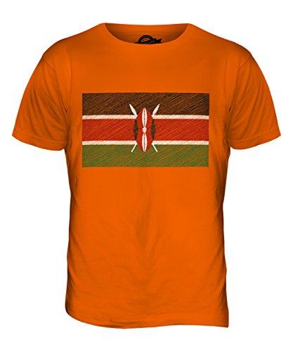CandyMix Kenia Kritzelte Flagge Herren T Shirt Orange
